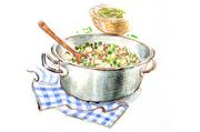 季節の料理「グリンピース」を使って
