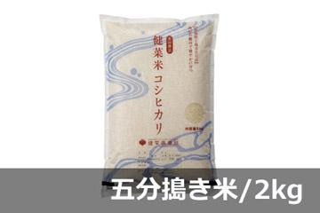 《頒布会》健菜米コシヒカリ 五分搗き米/2キロ