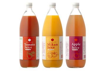 ジュースセット (トマト+リンゴ+ミカン 計3本)